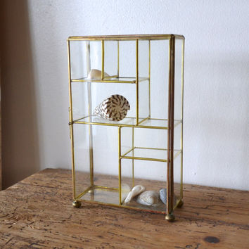 Vintage Brass and Glass Display Box