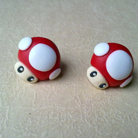 Nintendo Super Mario Bros Mushroom Earrings