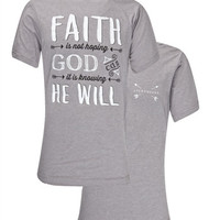 Southern Couture Lightheart Faith He Will Christian Triblend Back Print Girlie Bright T Shirt