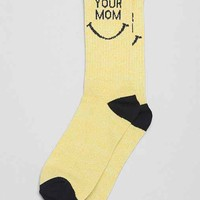 Your Mom Smile Sock- Yellow One