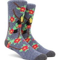 """New"" Socks Toucan Life Crew Socks - Mens Socks - Yellow/Blue - One"