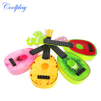 Coolplay 1Pcs Kid's Baby 4 String Acoustic Guitar fruit Mini Simulation Ukelele Toy Guitar