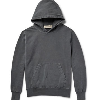 Remi Relief - Distressed Loopback Cotton-Jersey Hoodie