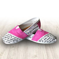 Custom Painted Love Never Fails Toms Shoes Bible by TomsByHeather