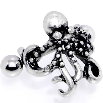 """16 Gauge 1/2"""" Outstretched Octopus Cuff Cartilage Earring"""
