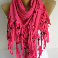 Trend Scarf- Pink Scarf-  Shawls-Scarves-gift Ideas For Her Women's Scarves-christmas gift- for her -Fashion accessories