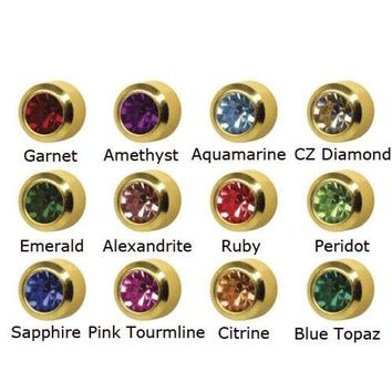 4mm 24k Surgical Stainless Steel Ear Piercing Stud Earrings 12 Month Color