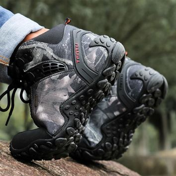 2018 Men's Hiking Shoes Waterproof Trekking Shoes Men Outdoor Boots Camping New Camouflage Camping Sneakers Sportswear Climbing