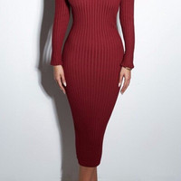 Madrea Sweater Bodycon Dress
