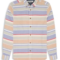 Orange Pepper Long Sleeve Beach Towel Stripe Shirt | Shirts | Ben Sherman