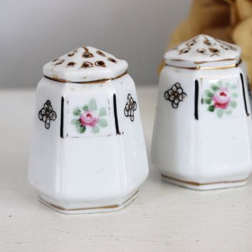 Vintage Japanese Floral Salt and Pepper Shaker