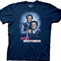 Step Brothers Brennan and Dale Family Photo Adult Navy T-Shirt