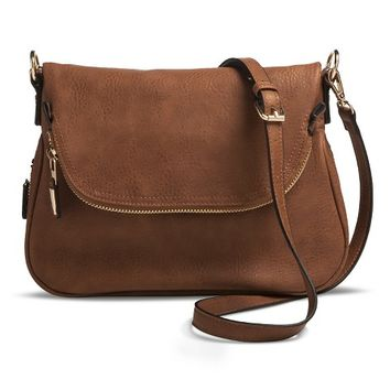Women's Zipper Flap Crossbody Handbag
