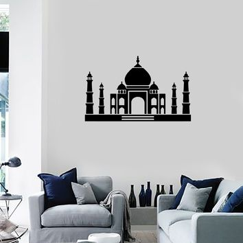 Vinyl Decal Wall Sticker Castle Taj Mahal Mosque India Home Decor Unique Gift (g067)