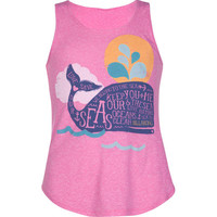 Billabong Whale Tale Continued Girls Tank Pink  In Sizes