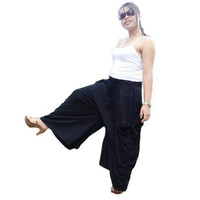 Ladies Convertible Pant Or SkirtLong and Comfy Black by thaisaket