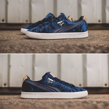 Best Online Sale PUMA Suede Clyde x Extra Butter Casual Shoes Blue Sport Shoes - 362320-02