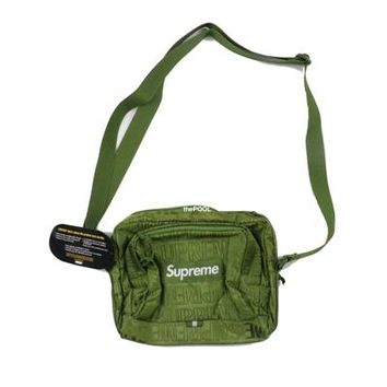 3 colors Supreme 19SS shoulder Bag 44th Unisex Fanny Pack Fashion Men Canvas Men Messenger Bags 46th backpack waist bags