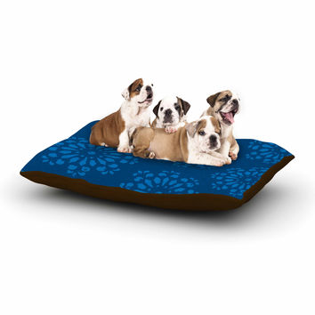 "Gukuuki ""Blue Taylor"" Navy Damask Dog Bed"