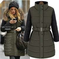 New Brand Fashion Clothing Fur Hooded Zipper Long Style Women Warm Down Coat Winter parkas coat Size S-XL B11 CB031228/1080785KKNN2199 = 1956178116