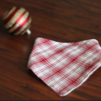 Plaid Bibdana, Bandana Bib, Winter, Cotton, Fall