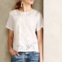Lace Lanes Pullover by Champagne & Strawberry Ivory