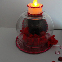 Valentine's Day Gift..Baby Kitten Valentine's Day Centerpiece..Valentine's Day Tea Light Centerpiece