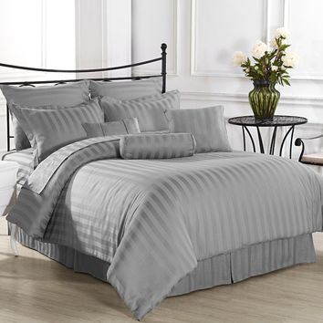 Royal Calico Comforter Set, King, Grey