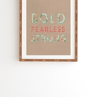 Allyson Johnson Bold Fearless And Strong Framed Wall Art