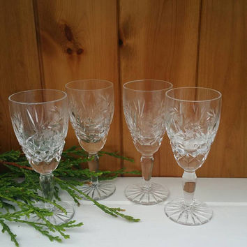 Star of David 4 x crystal sherry/port/liqueur glasses vintage 1960s ships worldwide from UK