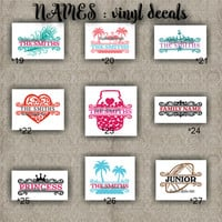 FAMILY NAMES vinyl decals   last name   initial   decal   sticker   car decals   car stickers   laptop sticker - 19-27