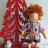 On Sale Moritz our forest collector doll, Original Waldorf style,