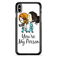 Grey S Anatomy - You Are My Person iPhone X Case