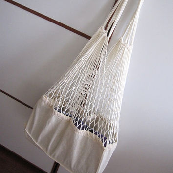 Farmers Market Bag, Linen Mesh Market Shop Bag, Tote Bag,  Turkish STORAGE Bags, cottage style market bag, crochet natural canvas cotton bag