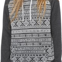 Empyre Jessie Charcoal Burnout Tribal Hoodie