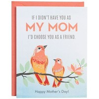 Birds Mom as Friend A2 Mother's Day Card