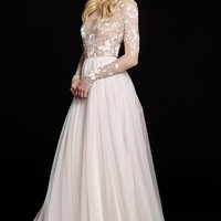 Hayley Paige 'Remmington' Embellished English Net Gown (In Stores Only) | Nordstrom