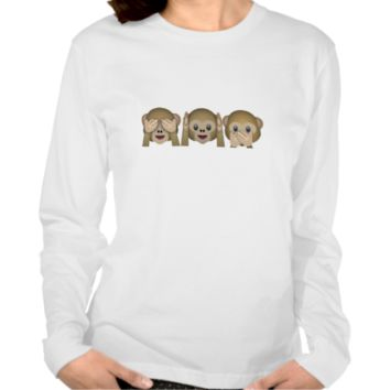 Three Wise Monkeys Emoji T Shirt