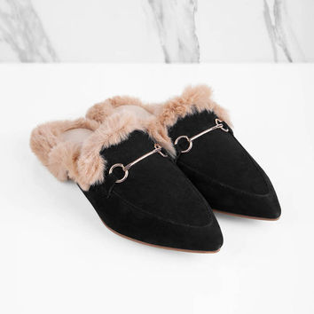 Chinese Laundry Carter Fur Slip On Flats