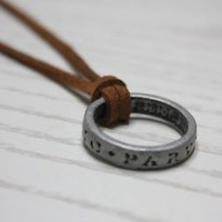Uncharted 3 Sir Francis Drake Ring Necklace from Collector's Edition Super Cool
