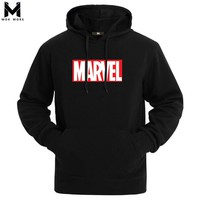 Hot 2018 Autumn And Winter Brand Sweatshirts Men High Quality MARVEL letter printing fashion mens hoodies