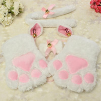 Anime Inspired Cosplay Fluffy Cat Costume