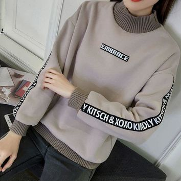 CREYCY2 Loose and cashmere sweater female thickening