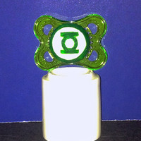 Baby Green Lantern on a Green MAM 0-6 month Pacifier - Custom Hand Painted Pacifier