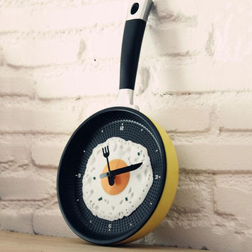 Fried Egg Wall Clock Home Gift