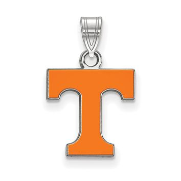 NCAA Sterling Silver U. of Tennessee Small Enamel Pendant Necklace