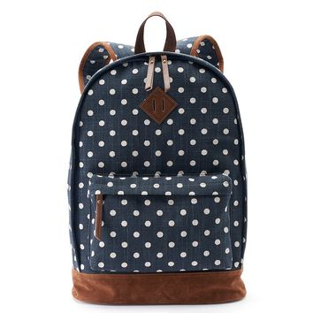 Mudd Tiffany Polka-Dot Dome Backpack