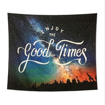 Good Time Galaxy Tapestry Wall Art Home Decor