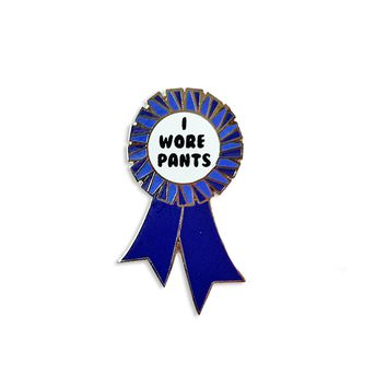 Adult Pants Award Enamel Pin