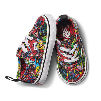 Vans X Marvel Toddler Authentic Elastic Lace | Shop At Vans